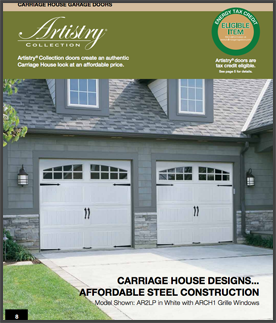 Artistry series garage doors