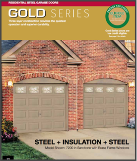 Gold series garage doors