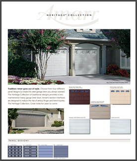heritage collection garage doors