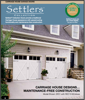 Settlers series garage doors